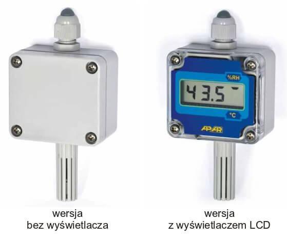 Przetworniki wilgotności firmy APAR - modele AR250