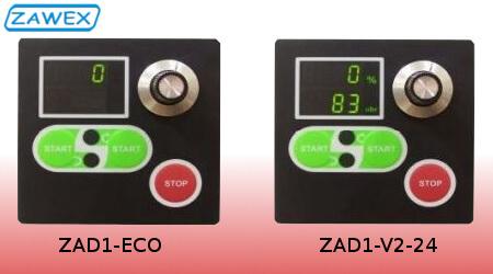 Zadajnik panelowy ZAD1 - porównanie dostępnych wersji