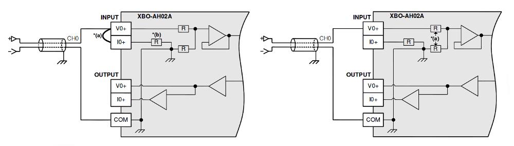 Schemat podłączenia karty rozszrzeń XBO-AH02A