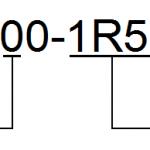 Symbol modelu falownika CHE100-1R5G-S2